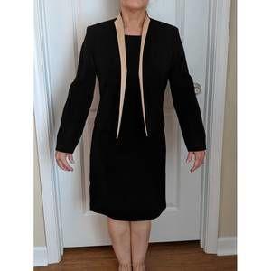 Black & Gold Suit Dress by Positive Attitude